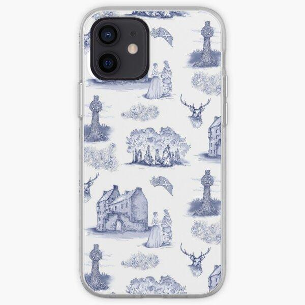 Highlander Toile in Blue iPhone Soft Case