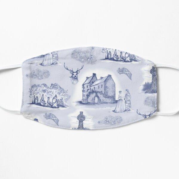 Highlander Toile in Blue on soft blue background Flat Mask