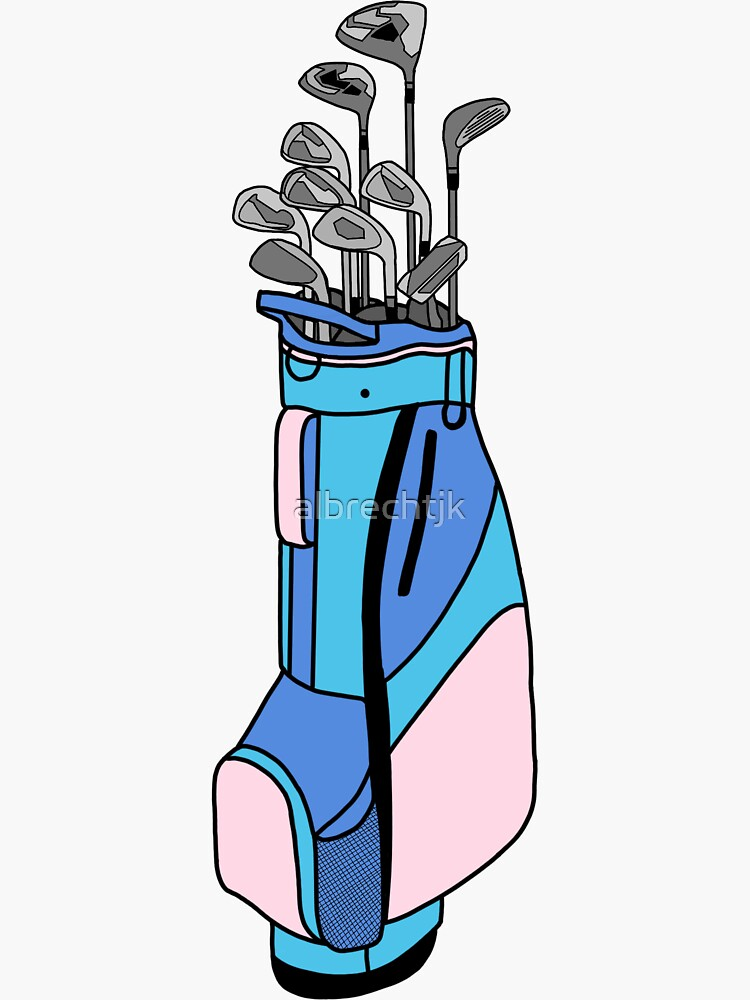 Golf Clubs Sticker by albrechtjk