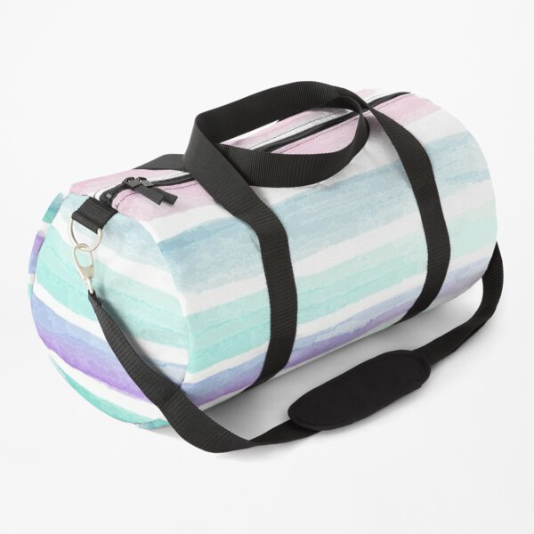 Water Color Lines  Duffle Bag