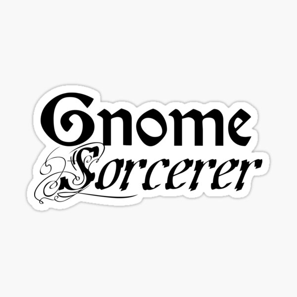 Gnome Sorcerer Sticker
