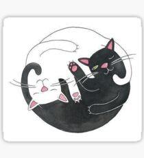 Cat Yin Yang Sticker