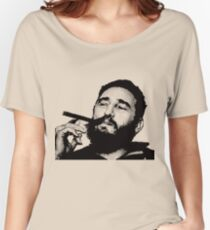 Young Fidel Castro Smoking Cigar Women's Relaxed Fit T-Shirt