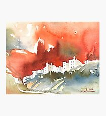 France - The Menerbes Where Nicolas de Stael lived Photographic Print