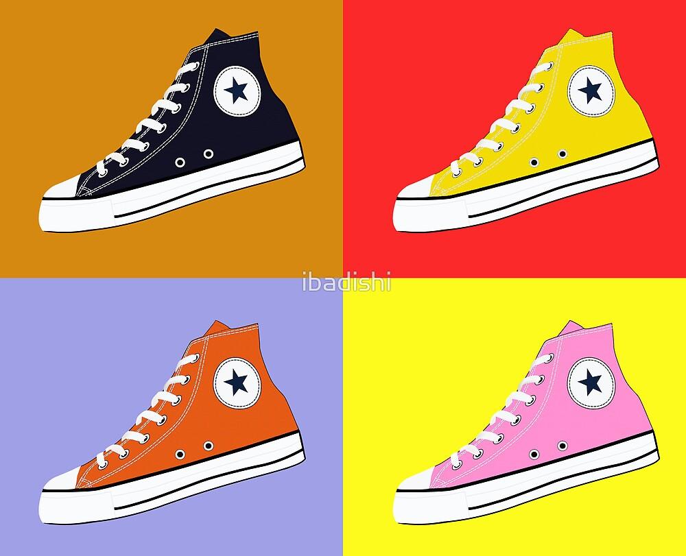 Pop Art All Star Inspired Hi Top Sneaker by ibadishi