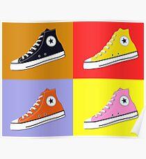 Pop Art All Star Inspired Hi Top Sneaker Poster