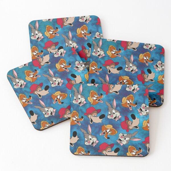 Splash Mountain pattern Coasters (Set of 4)