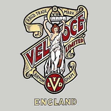 Classic British Motorcycle Emblem - Velocette Maiden by vintageracer