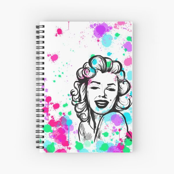 Marilyn 2.0  Spiral Notebook