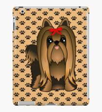 Cute Long Hair Yorshire Terrier Puppy Dog iPad Case/Skin