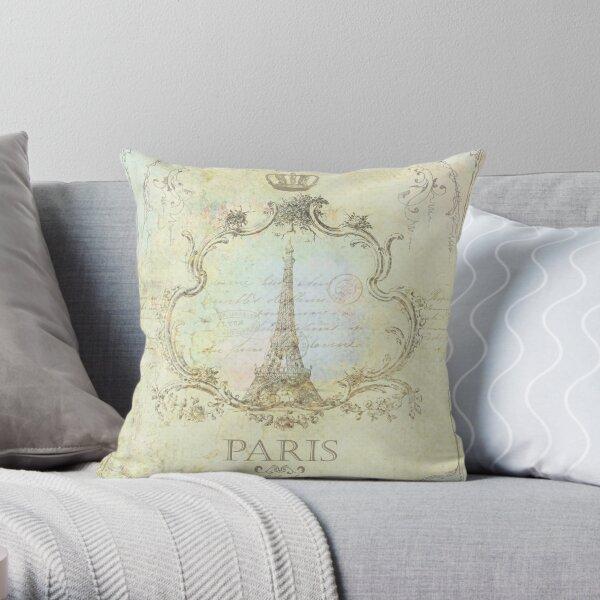 Paris Embrace Throw Pillow