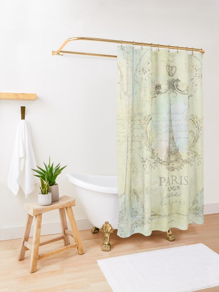 Alternate view of Paris Embrace Shower Curtain