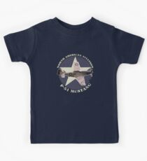 Vintage Look North American Aviation P-51 Mustang Fighter Kids Clothes