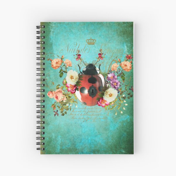 Lady Bug Luck Portrait Spiral Notebook