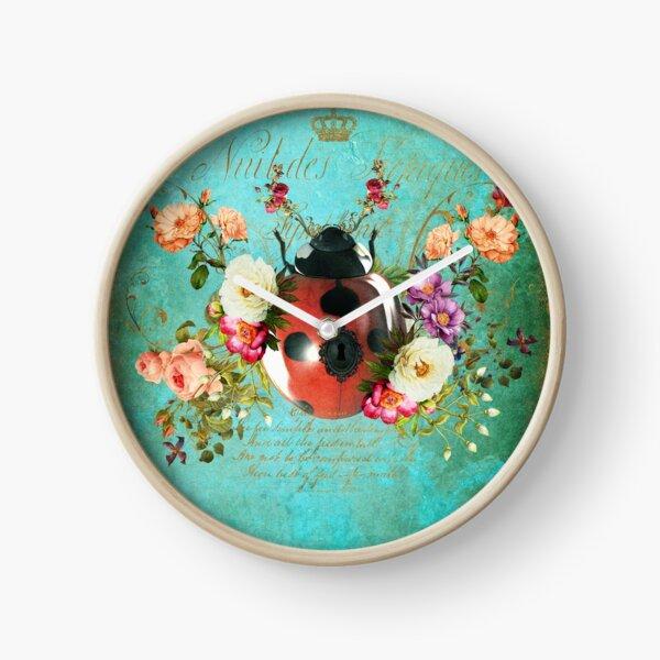 Lady Bug Luck Portrait Clock
