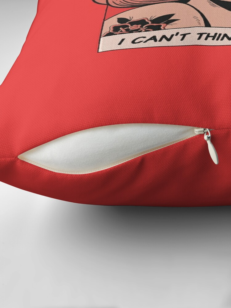 Alternate view of I Can't Think Straight Floor Pillow