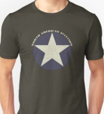 Vintage Look North American Aviation Graphic T-Shirt