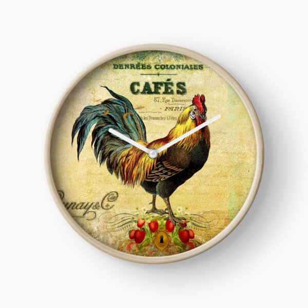 Cafe Rooster Full Clock