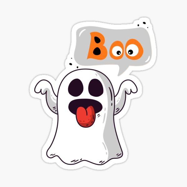 Boo Ghost of Disapproval Sticker