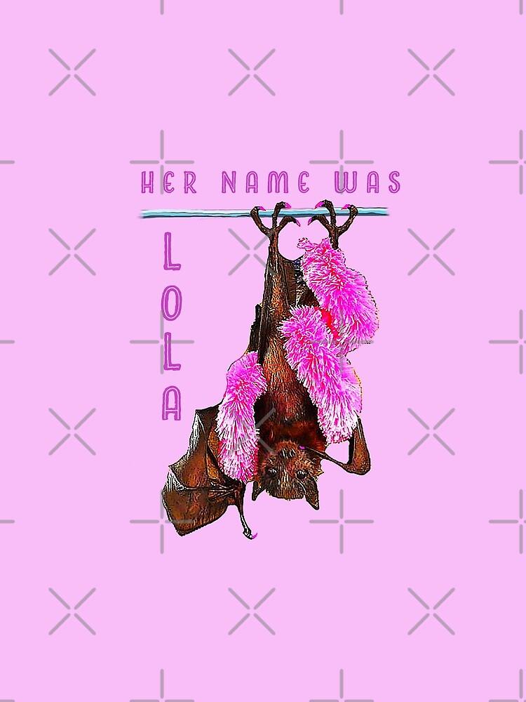 Batzilla - Lola the Showbat Pink background by batzilla