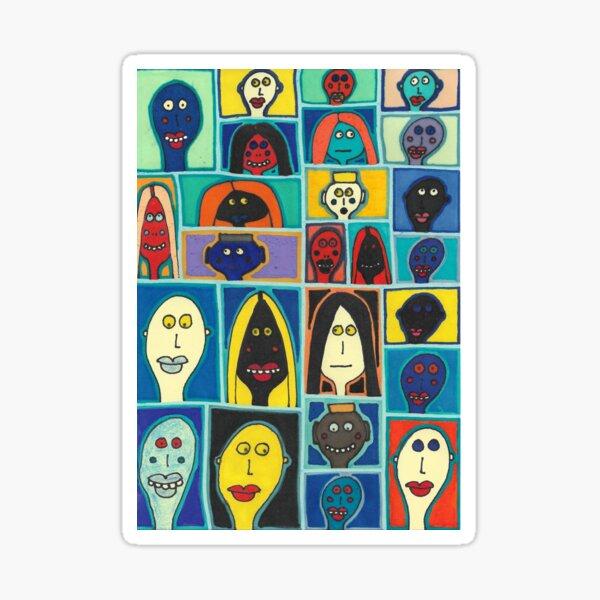 A Collection of Odd Folk Sticker