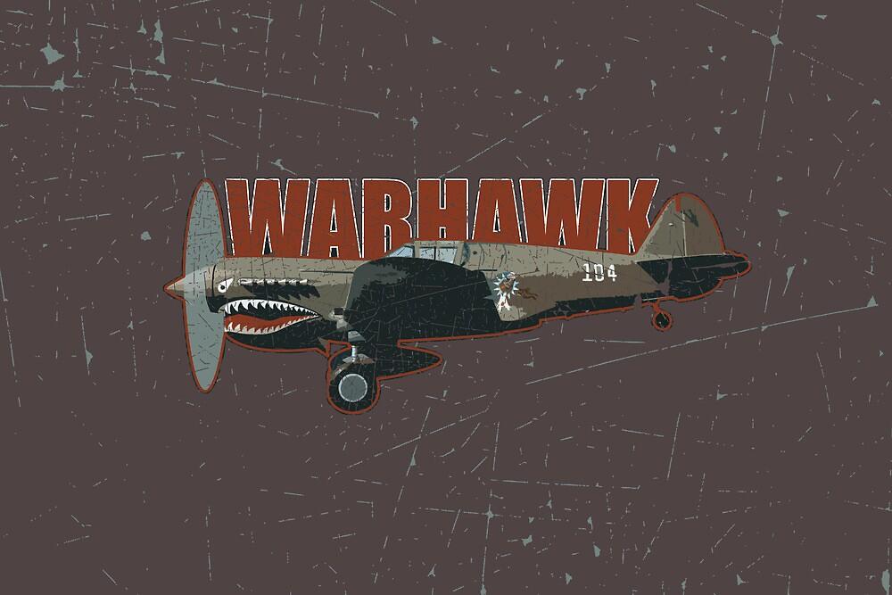 Vintage Look Curtis P-40 Warhawk Fighter Bomber Plane by VintageSpirit