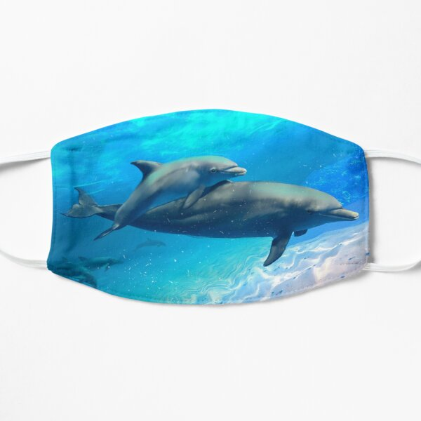 Dolphin Family Outing Flat Mask