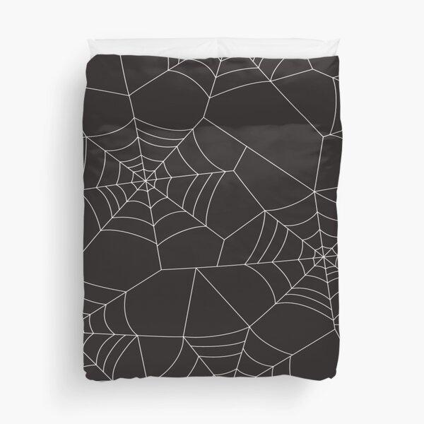 halloween spider web Duvet Cover