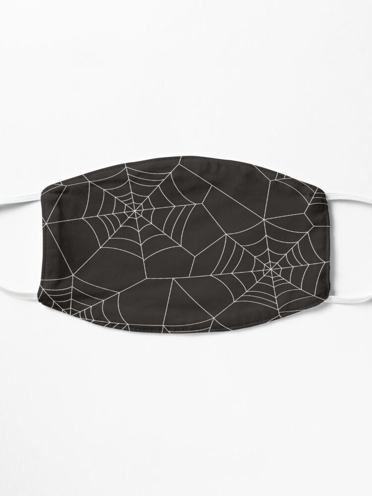 Alternate view of halloween spider web Mask