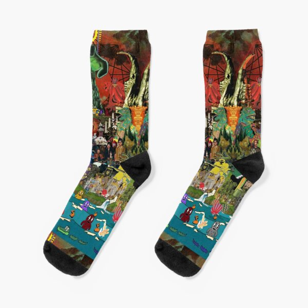 King Gizzard and the Lizard Wizard Collage - all proceeds to charity - King Gizzard's Altered Beasts Club Band Socks