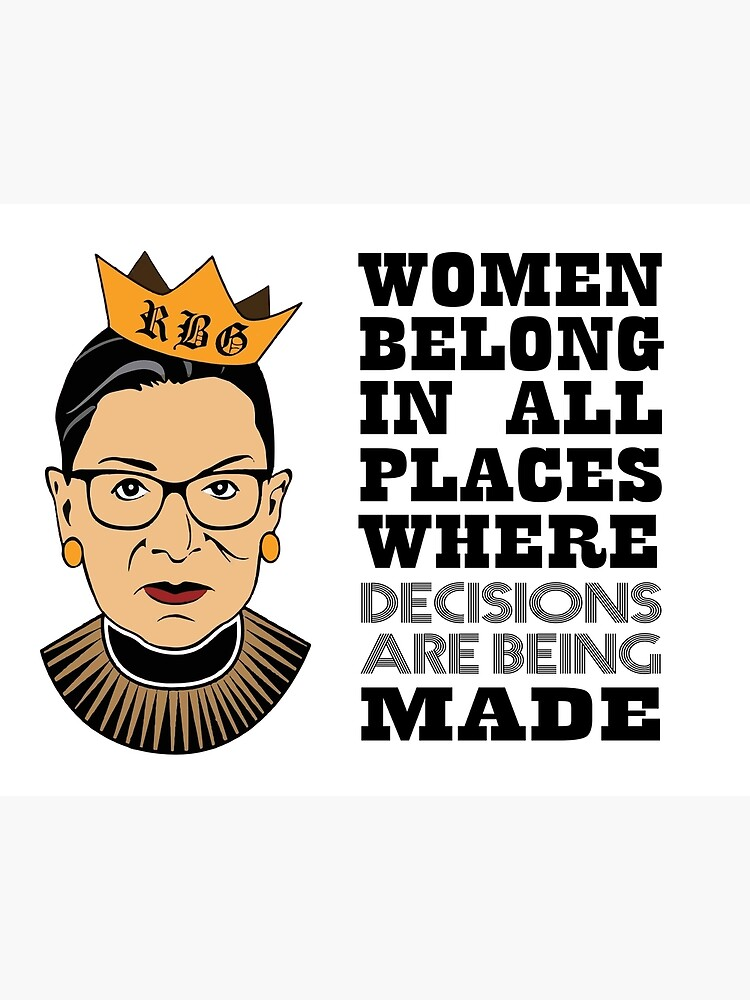"""Notorious RBG,Notorious RBG BLACK - Ruth Bader Ginsburg Shirt, R.B.G Shirt, Notorious  Ruth Bader Ginsberg Tee, RGB Shirt, Queen Crown Supreme Court."""" Art Board  Print by houcine19 