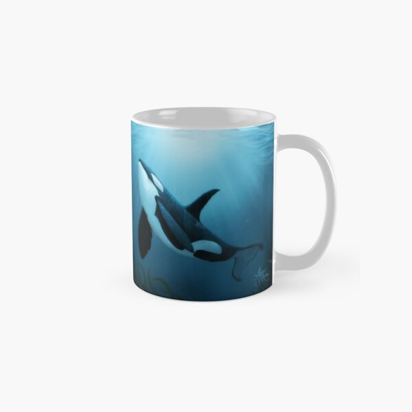 """The Dreamer"" by Amber Marine ~ (Copyright 2015) orca art / killer whale digital painting Classic Mug"