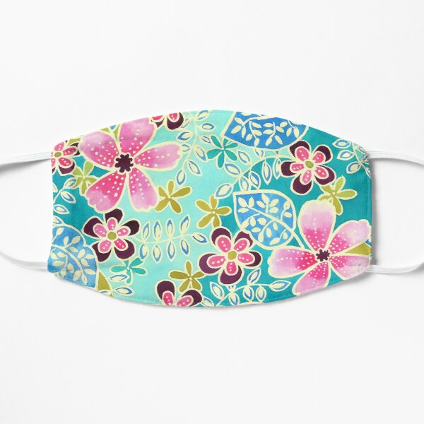 Tropical Floral Batik Mask