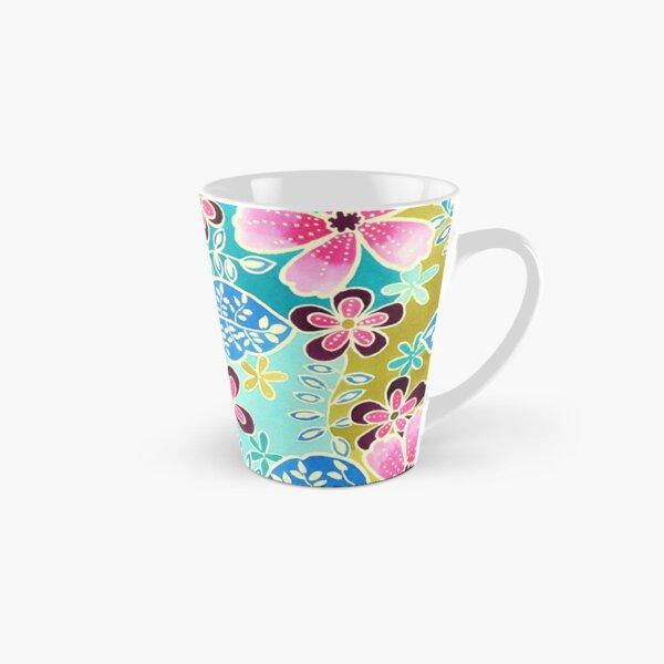 Tropical Floral Batik Tall Mug