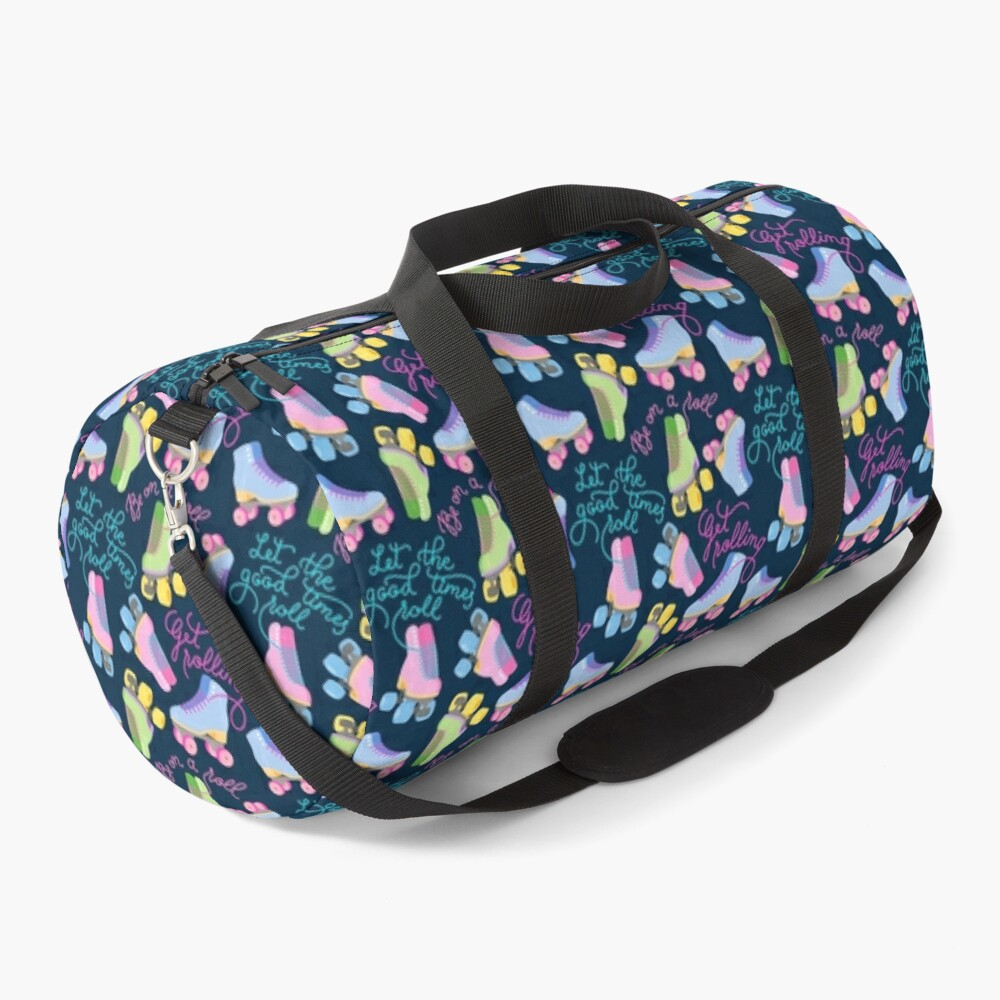 Roller Skates Pattern (Navy Background) Duffle Bag