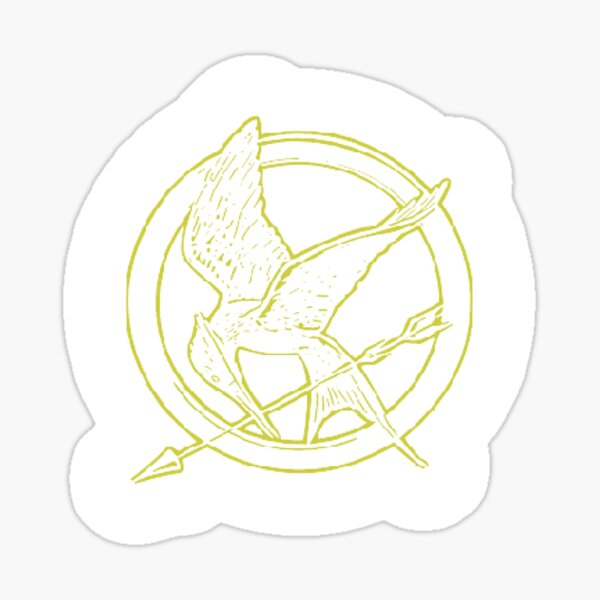 The Hunger games pin sticker Sticker