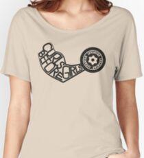 Curls Before Girls (Black) Women's Relaxed Fit T-Shirt
