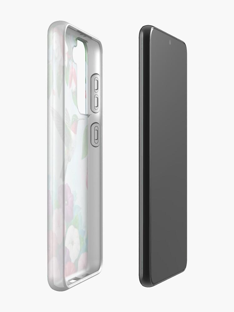 Alternate view of Hummingbirds and Fuchsias Purple Case & Skin for Samsung Galaxy