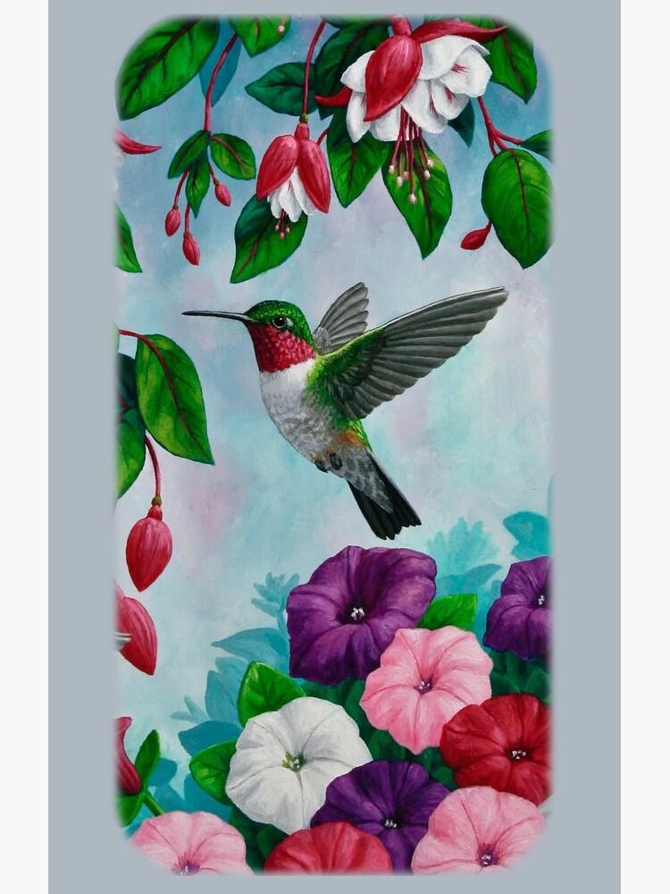 Hummingbirds and Fuchsias Purple by csforest