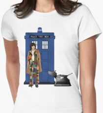 The Doctor and K-9 Womens Fitted T-Shirt