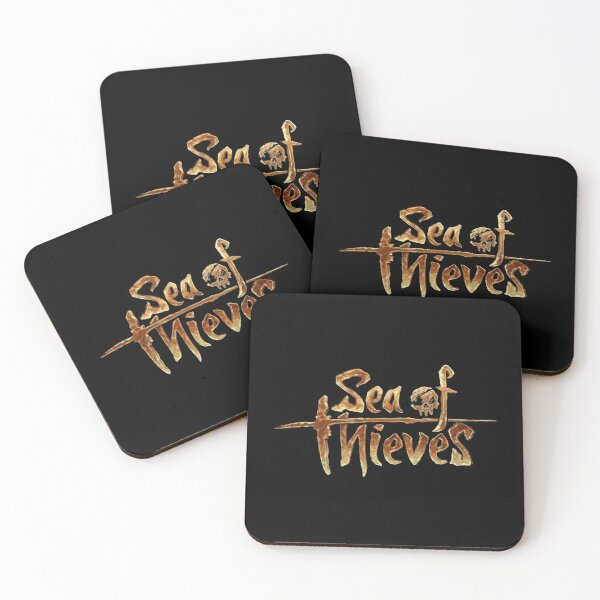 Sea of Thieves Gold Logo Coasters (Set of 4)