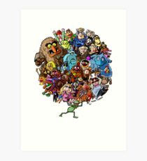 Muppets World of Friendship Art Print