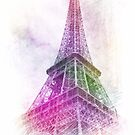 Eiffel Tower in Multicolor by identit3a