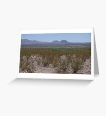 Volcanoes on the West Texas Plain - June Colours Greeting Card