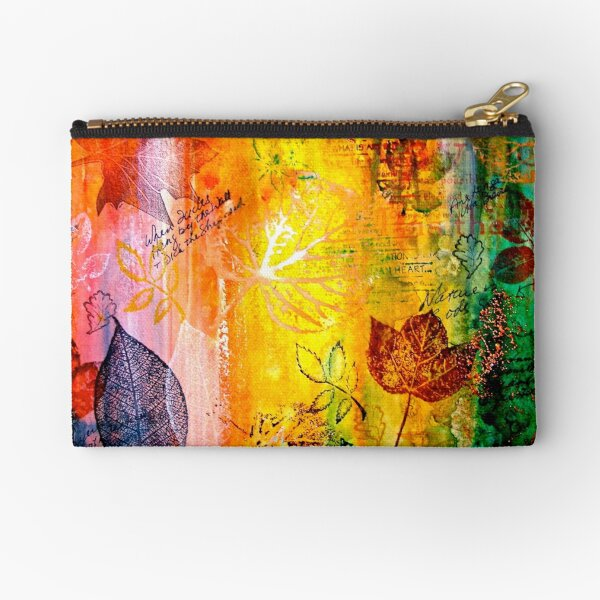 Nature...Layered with Texture Zipper Pouch