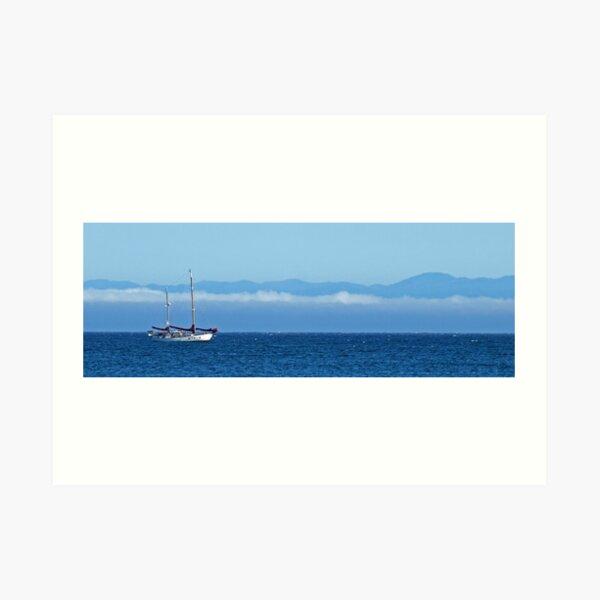 Santa Cruz Ketch Art Print