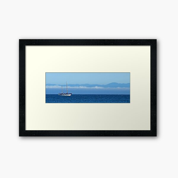 Santa Cruz Ketch Framed Art Print
