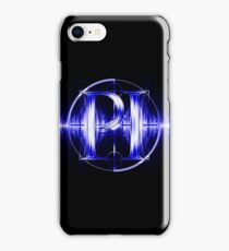 PI Radio Logo (Blue) iPhone Case/Skin