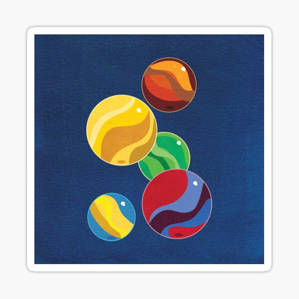 Marbles in a Modern Style Sticker