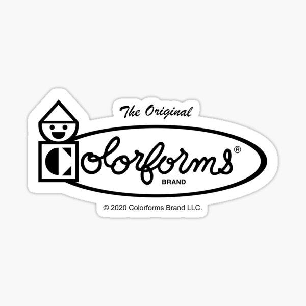 Colorforms Logo (Black and White) Sticker